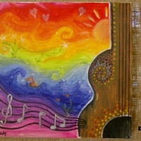 "Maddy Kelly [Year 12] - ""Sound of the Soul"" (Acrylic)"